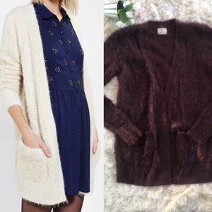 Pins and Needles Fuzzy Open Cardigan